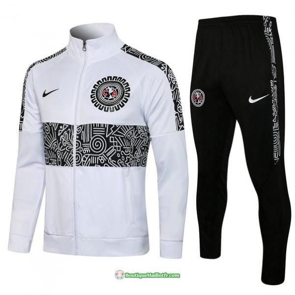 Veste Survetement Cf América 2021 2022 Blanc Col ...