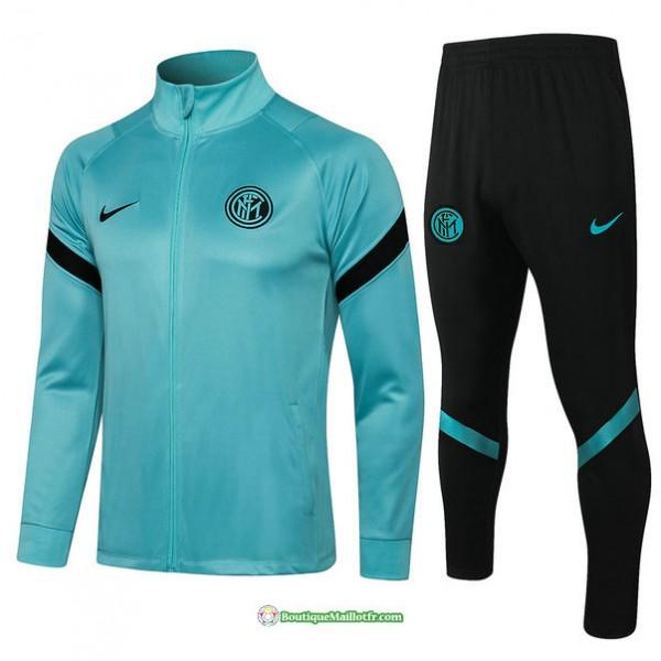 Veste Survetement Inter Milan 2021 2022 Vert Col H...