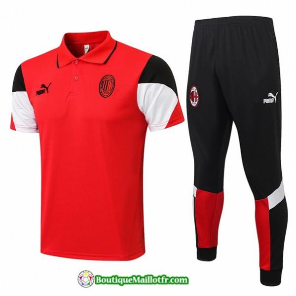 Kit Maillot Entraînement Polo Ac Milan 2021 2022 ...