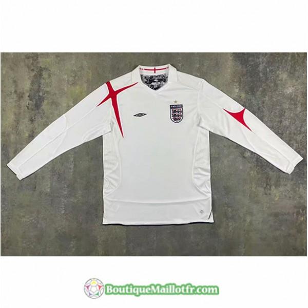 Maillot Angleterre Retro 2006 Domicile Blanc Manch...