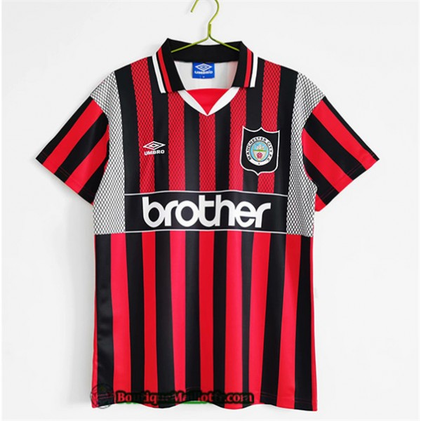 Maillot Manchester City Retro 1994 96 Exterieur