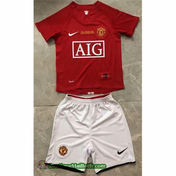 Maillot Manchester United Enfant Retro 2007 08 Dom...