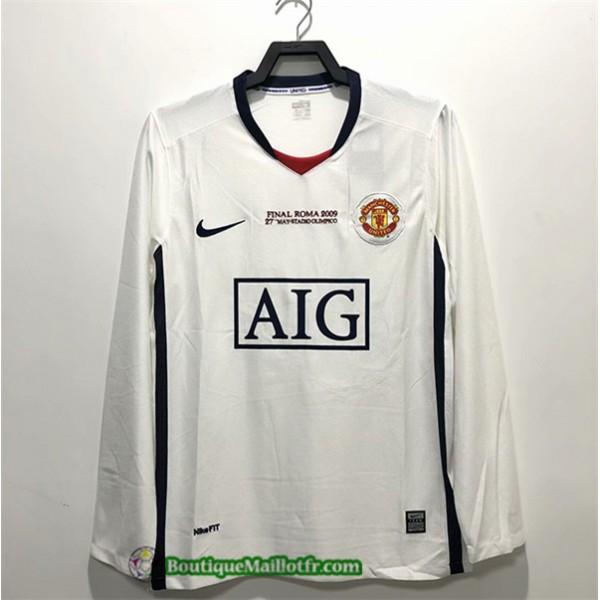 Maillot Manchester United Retro 2008 09 Exterieur ...