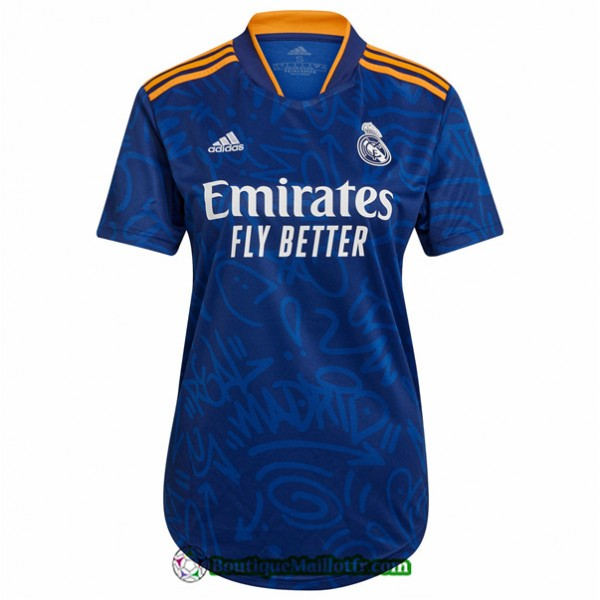 Maillot Real Madrid Femme 2021 2022 Exterieur
