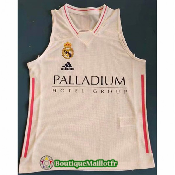 Maillot Vest Real Madrid 2021 2022 Blanc/rouge