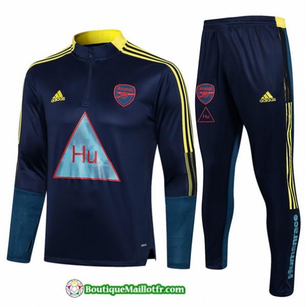 Survetement Arsenal 2021 2022 Bleu Marine