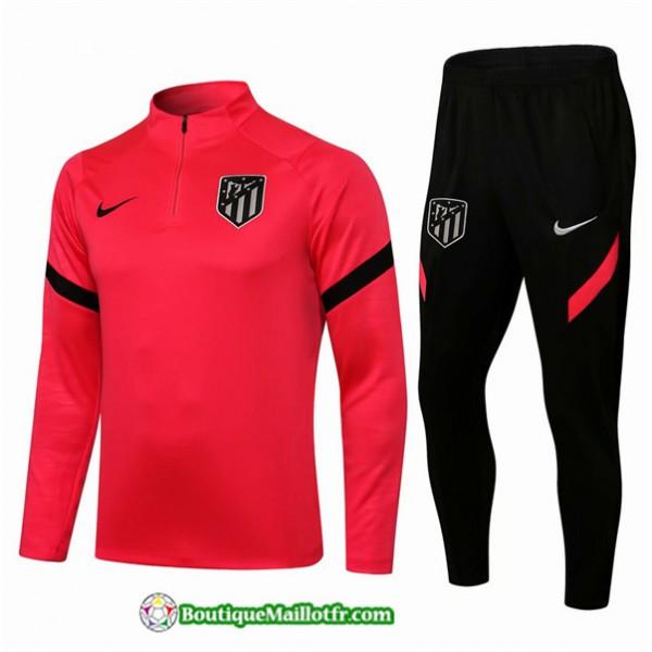 Survetement Atletico Madrid 2021 2022 Rose/rouge