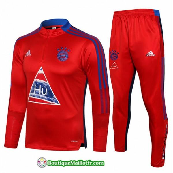 Survetement Bayern Munich 2021 2022 Rouge/bleu