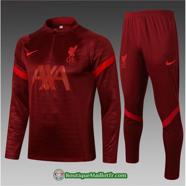 Survetement Liverpool 2021 2022 Enfant Rouge