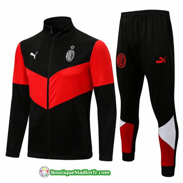 Veste Survetement Ac Milan 2021 2022 Noir