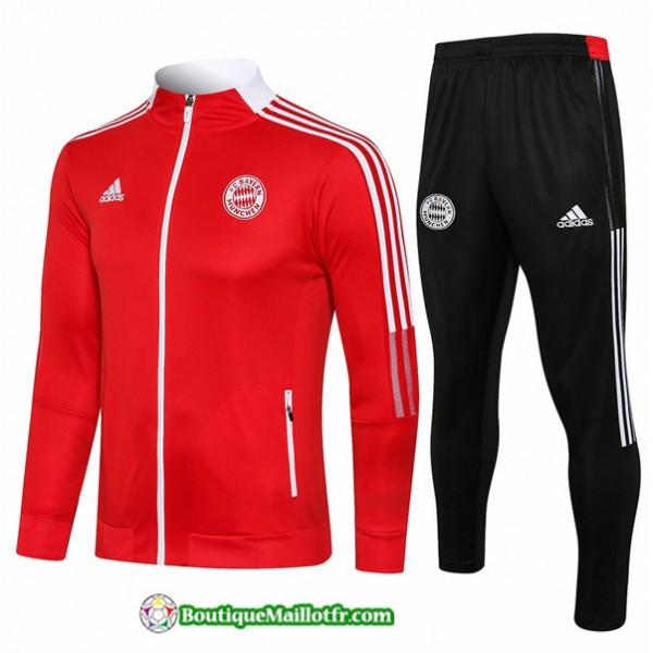 Veste Survetement Bayern Munich 2021 2022 Rouge Co...