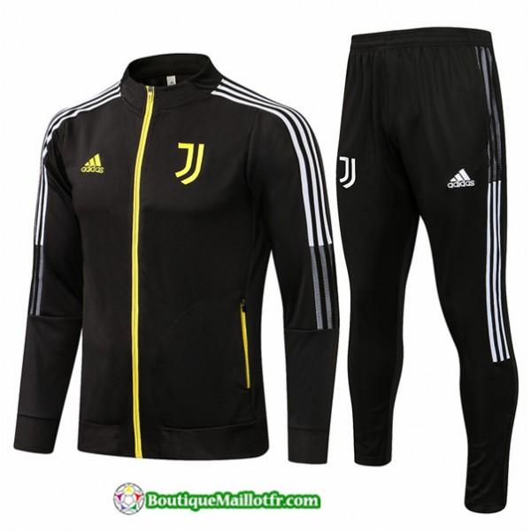 Veste Survetement Juventus 2021 2022 Noir/jaune Co...