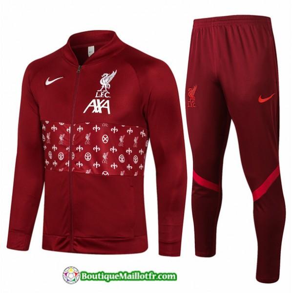 Veste Survetement Liverpool 2021 2022 Bordeaux