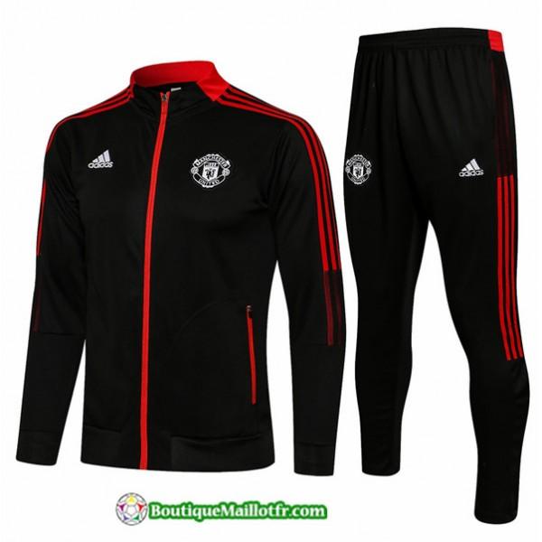 Veste Survetement Manchester United 2021 2022 Noir