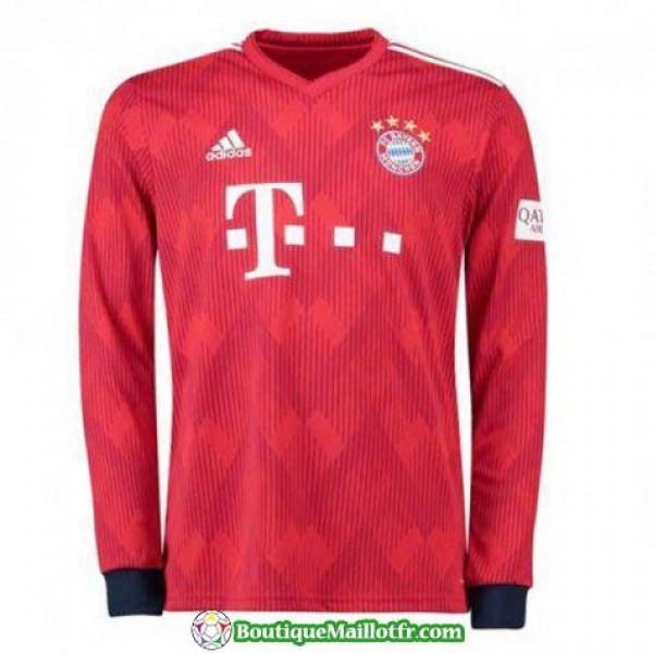 Maillot Bayern Munich Manche Longue 2018 2019 Domi...