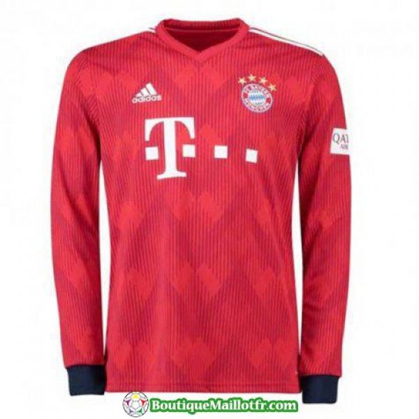 Maillot Bayern Munich Manche Longue 2018 2019 Domicile