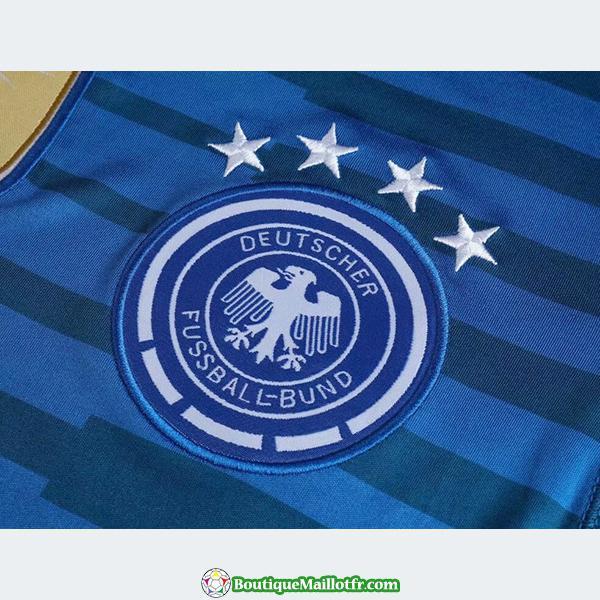 Maillot Allemagne Gardien Manche Longue 2018 Bleu