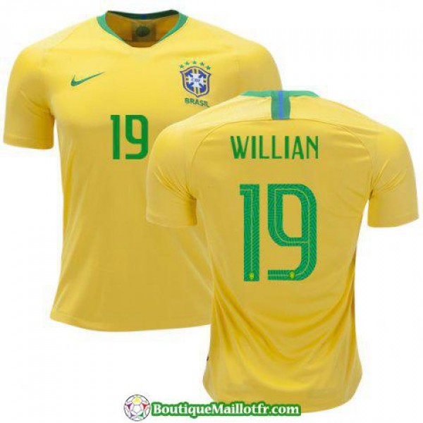 Maillot Bresil Willian 2018 Domicile