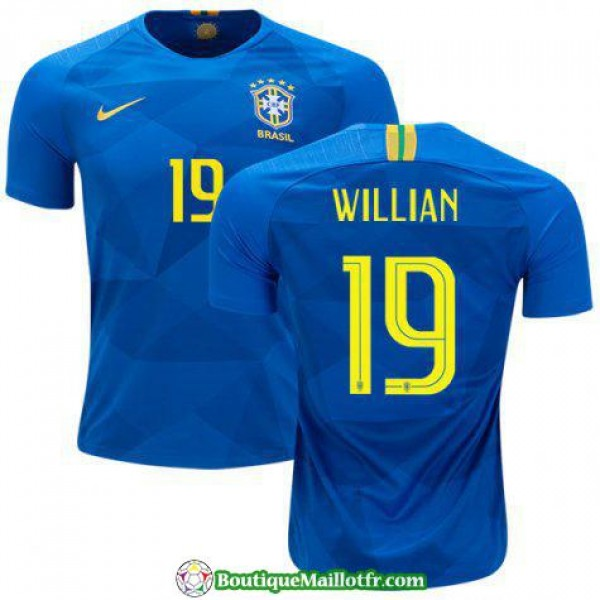 Maillot Bresil Willian 2018 Exterieur