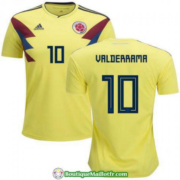 Maillot Colombie Valderrama 2018 Domicile