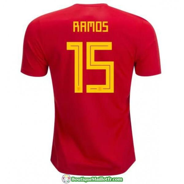 Maillot Espagne Ramos 2018 Domicile