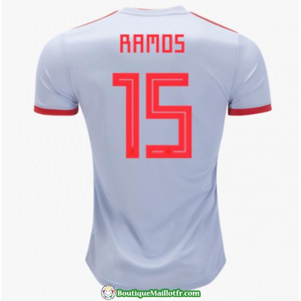 Maillot Espagne Ramos 2018 Exterieur