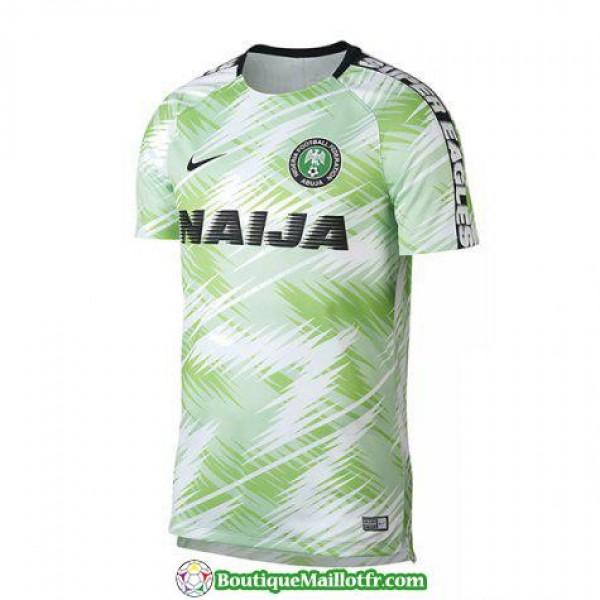 Maillot Nigeria Entrainement 2018 Blanc Vert