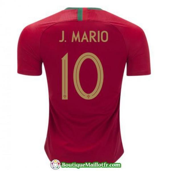 Maillot Portugal J Mario 2018 Domicile