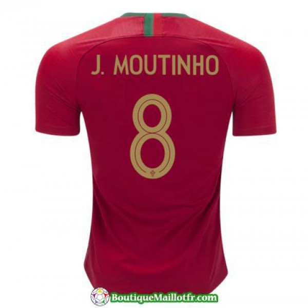 Maillot Portugal J Moutinho 2018 Domicile