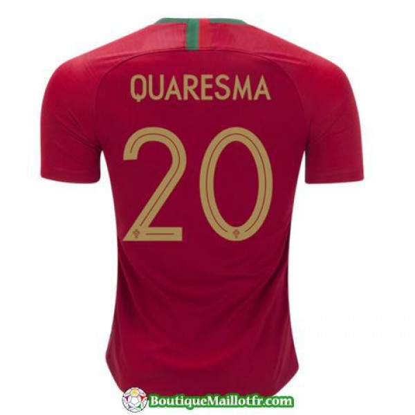 Maillot Portugal Quaresma 2018 Domicile