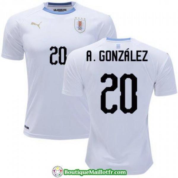 Maillot Uruguay A Gonzalez 2018 Exterieur