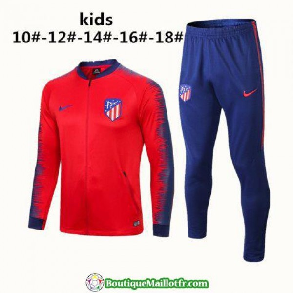 Veste Atletico Madrid Enfant 2018 Ensemble Complet...