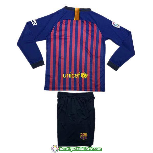 Maillot Barcelone Enfant Manche Longue 2018 2019 Domicile