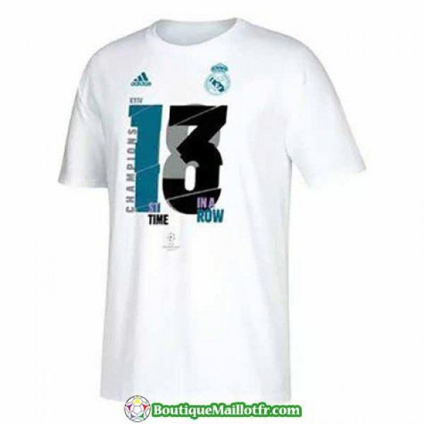 Maillot Real Madrid 13 Champions League Blanc