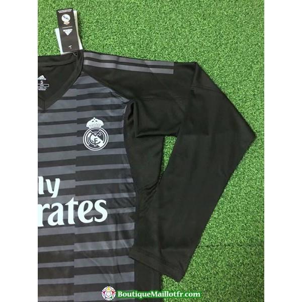 Maillot Real Madrid Gardien Manche Longue 2018 2019 Noir