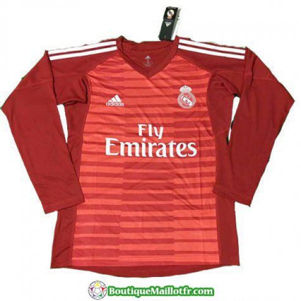 Maillot Real Madrid Gardien Manche Longue 2018 201...