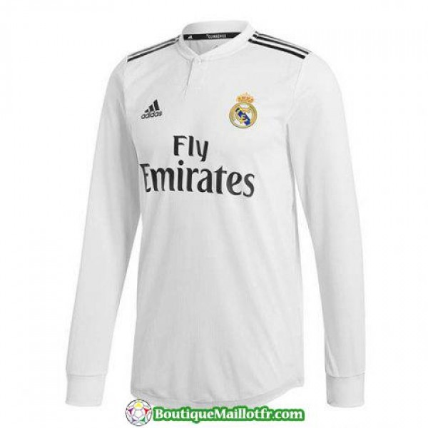 Maillot Real Madrid Manche Longue 2018 2019 Domici...