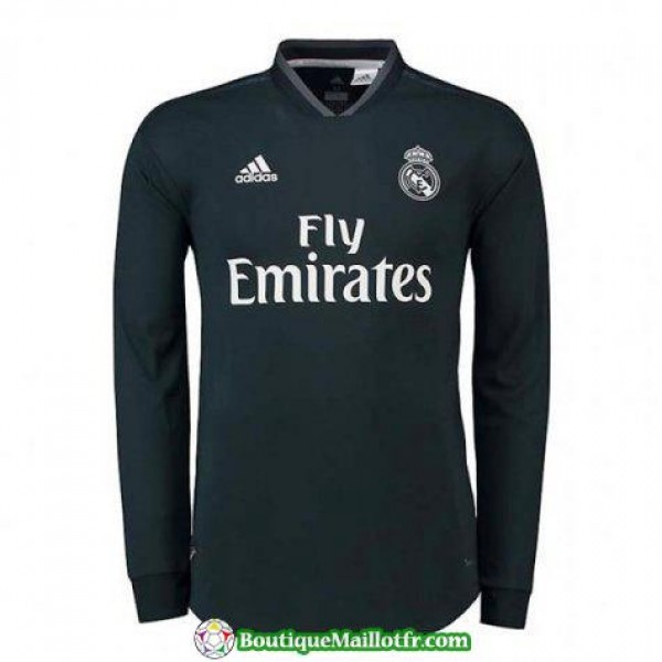 Maillot Real Madrid Manche Longue 2018 2019 Exteri...
