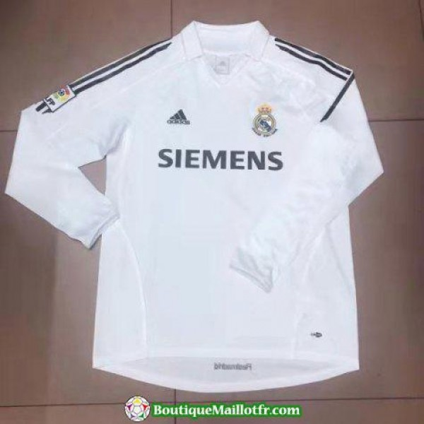 Maillot Real Madrid Retro Manche Longue 2006 Domic...