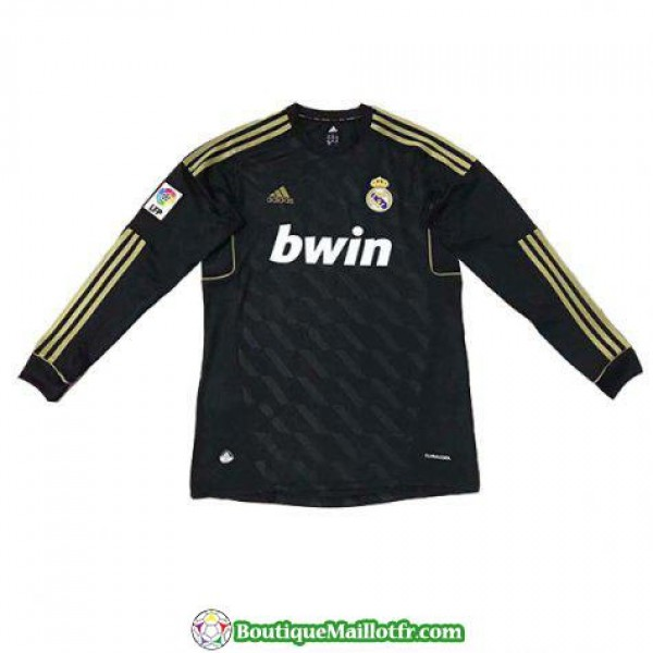 Maillot Real Madrid Retro Manche Longue 2012 Exterieur