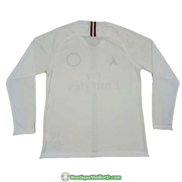 Maillot Psg Champions League Manche Longue Blanc