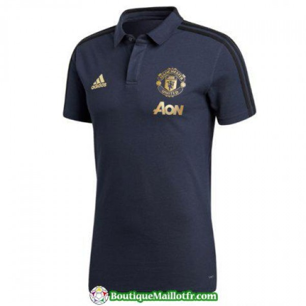 Polo Manchester United 2018 2019 Bleu