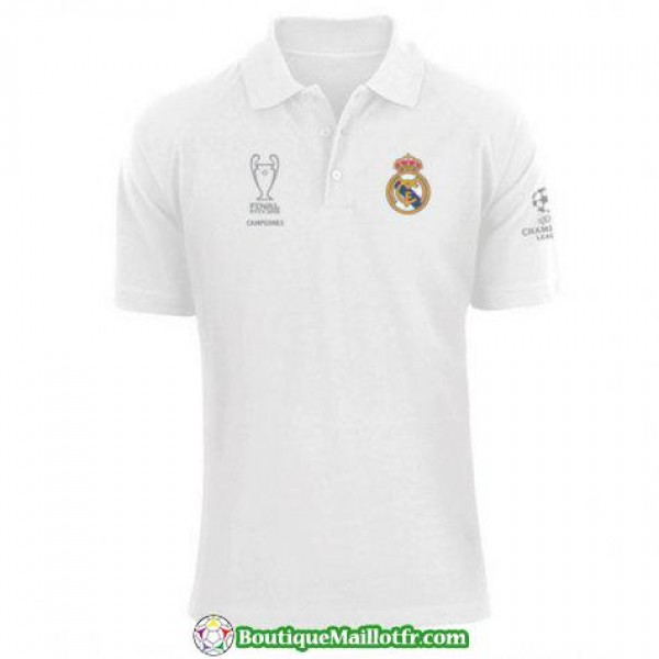 Polo Real Madrid 2018 2019 Champions League Blanc