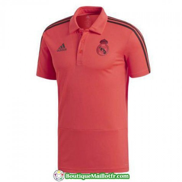 Polo Real Madrid 2018 2019 Rouge