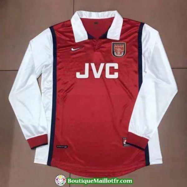 Maillot Arsenal Retro Manche Longue 1998 Domicile