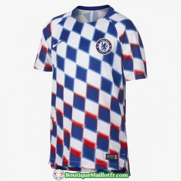 Maillot Chelsea Entrainement 2018 2019 Blanc Bleu