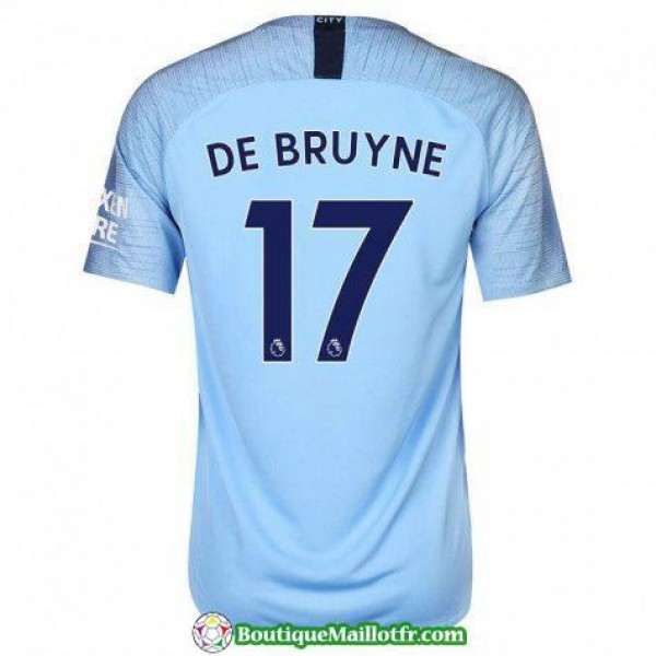 Maillot Manchester City De Bruyne 2018 2019 Domici...