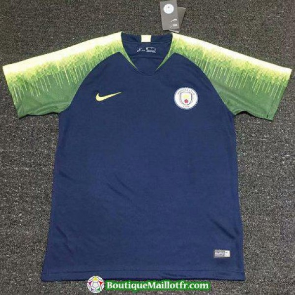 Maillot Manchester City Entrainement 2018 2019 Ver...