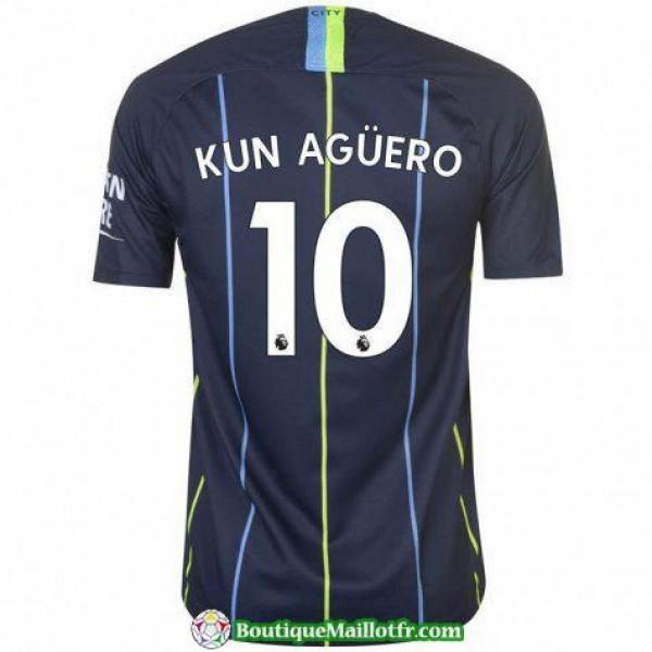 Maillot Manchester City Kun Aguero 2018 2019 Exter...