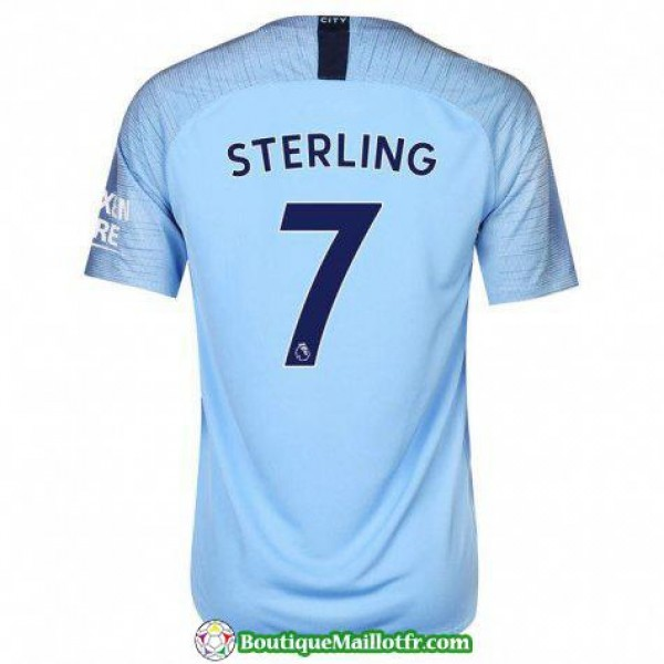 Maillot Manchester City Sterling 2018 2019 Domicil...